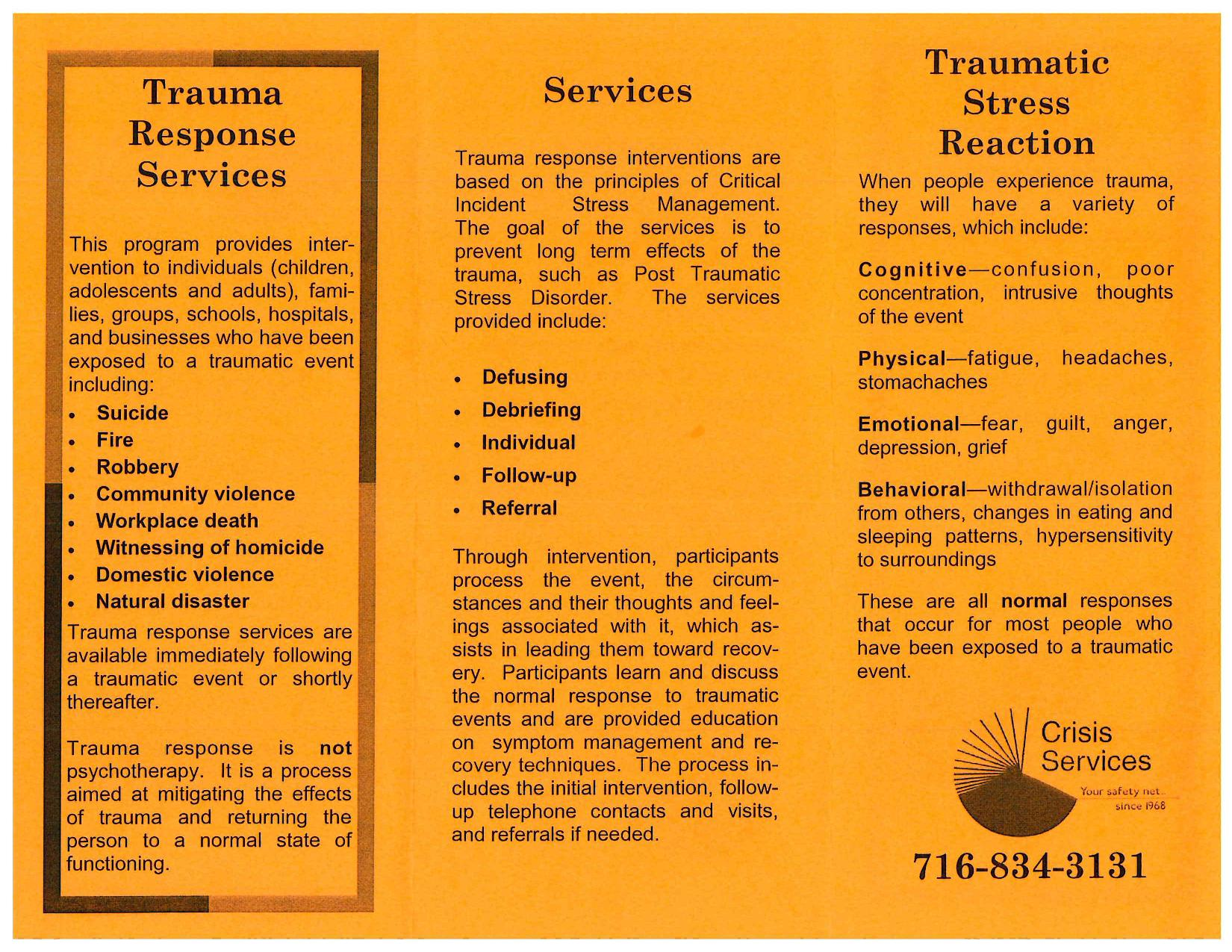 Crisis Services Traumatic Stress page 001