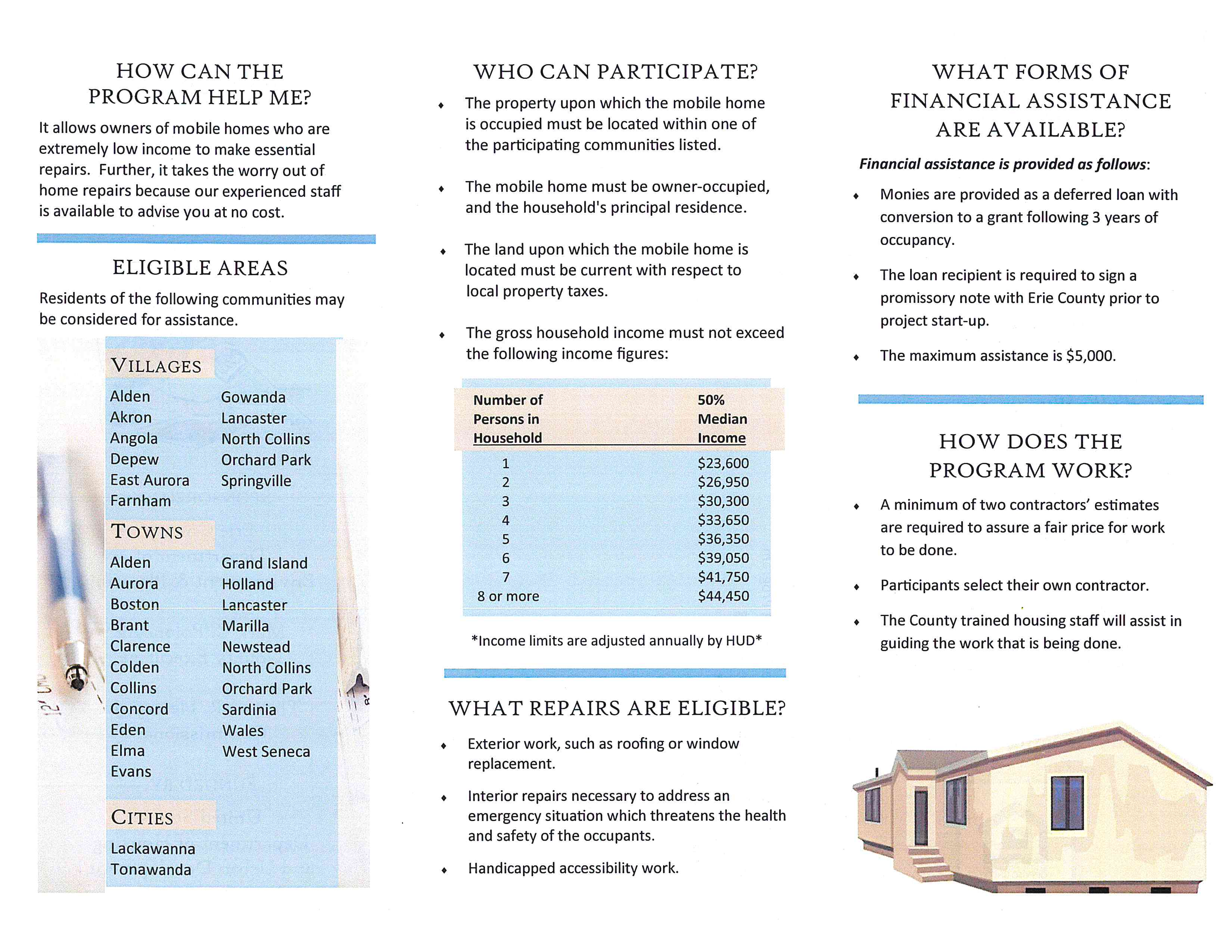 Mobile Home Repair Program pg 1