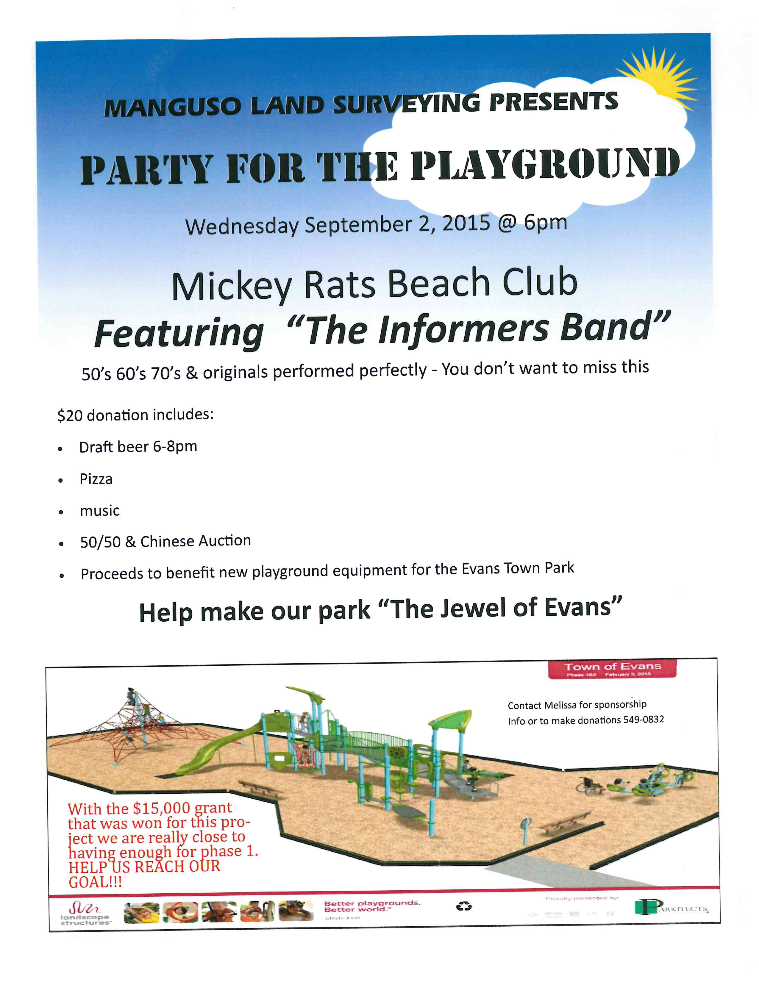 Party for the Playground Sept 2nd