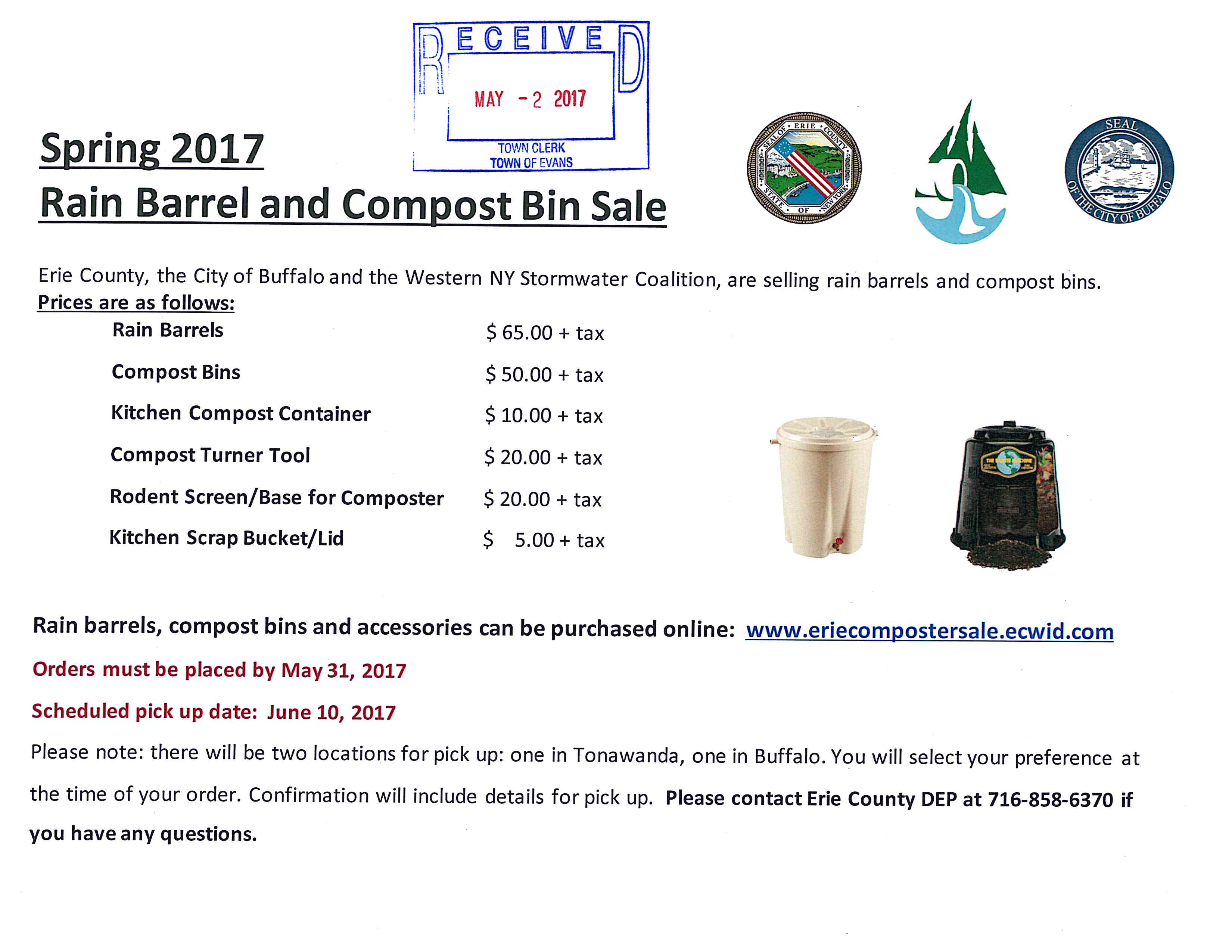 Rain Compost Barrel EC Sale 2017 05