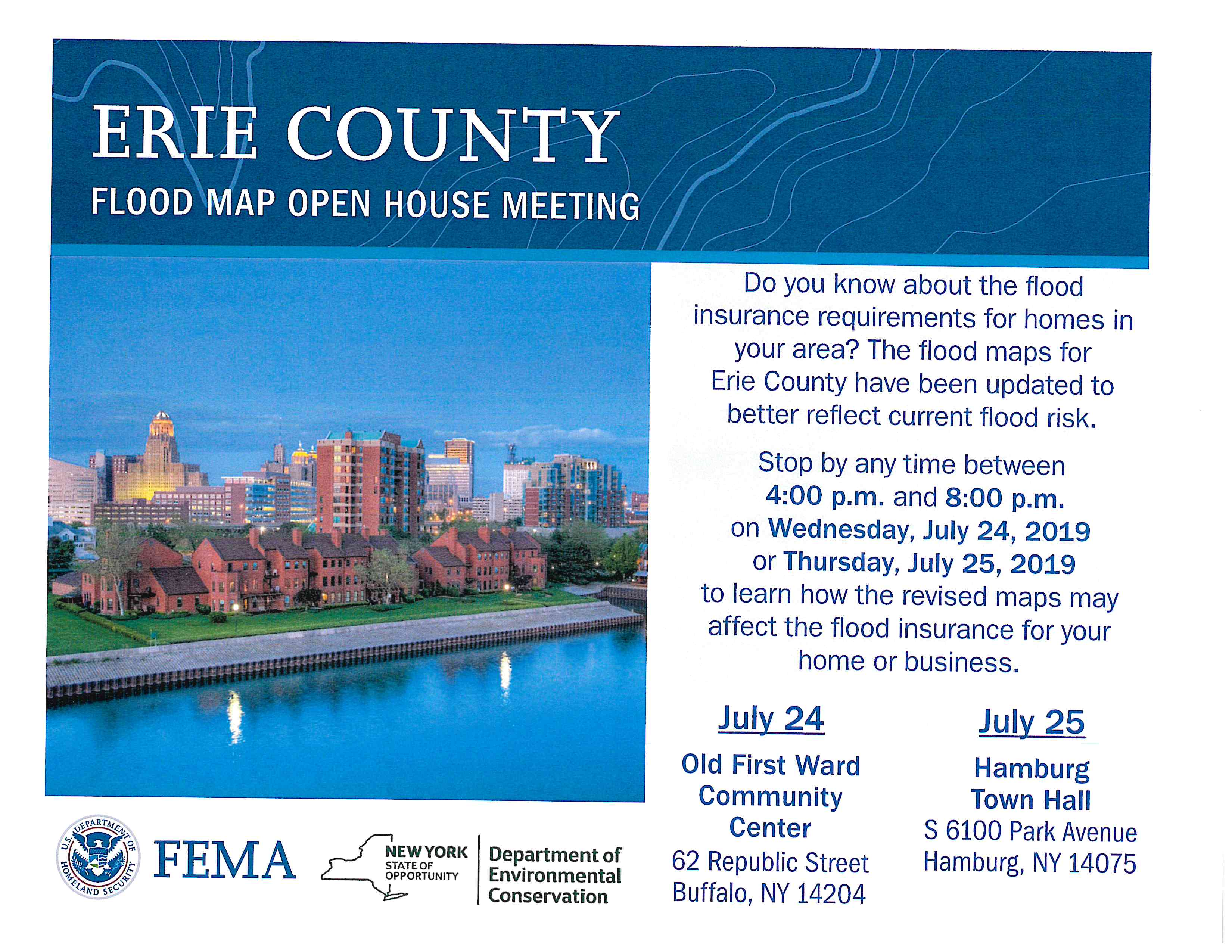 Erie County Flood May Open House Meeting 2019 07 25
