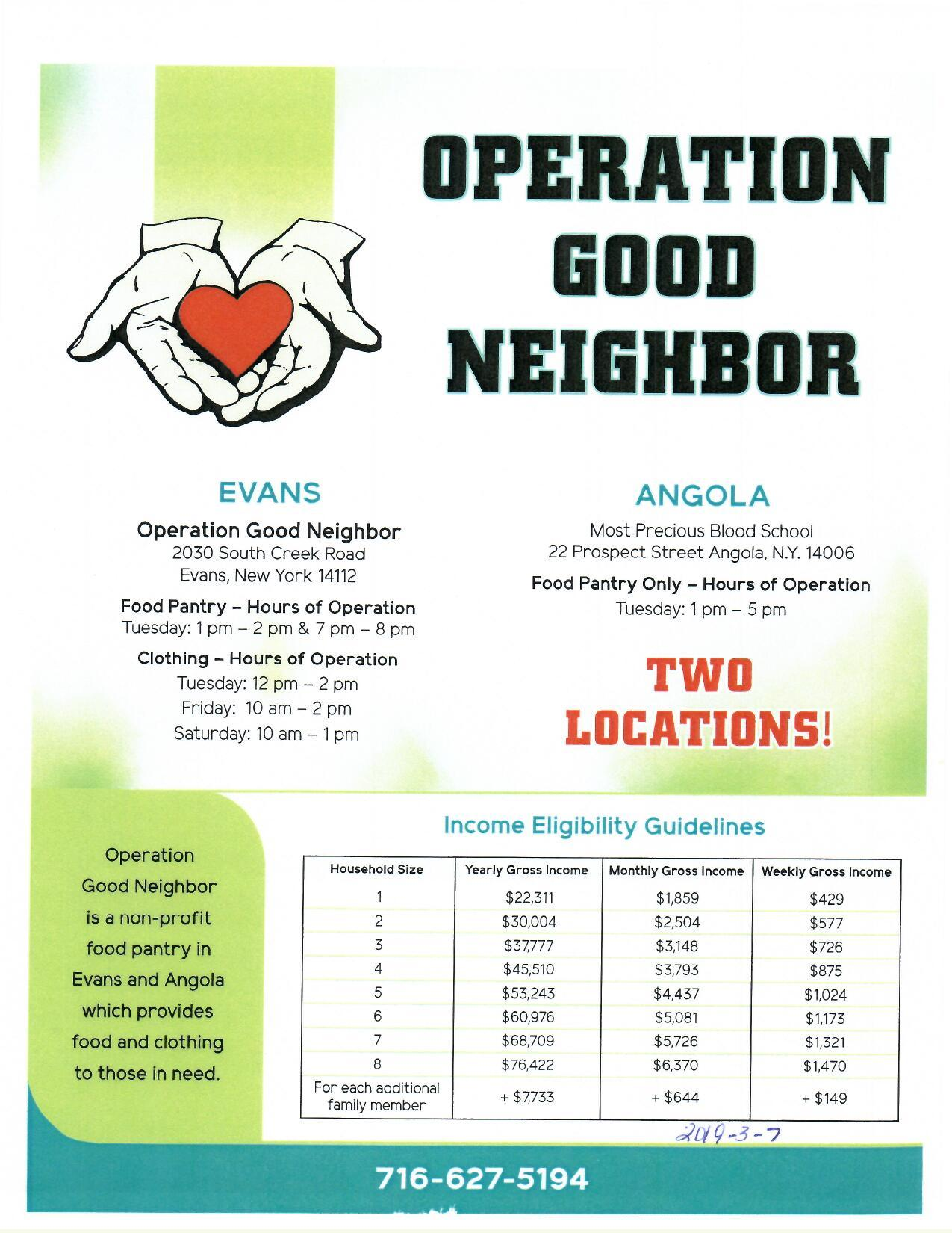 Operation Good Neighbor 2019